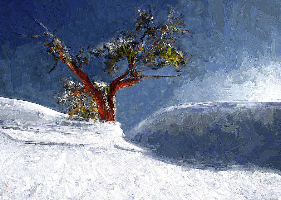 Lone Painting - Lost In The Snow by Alex Galkin