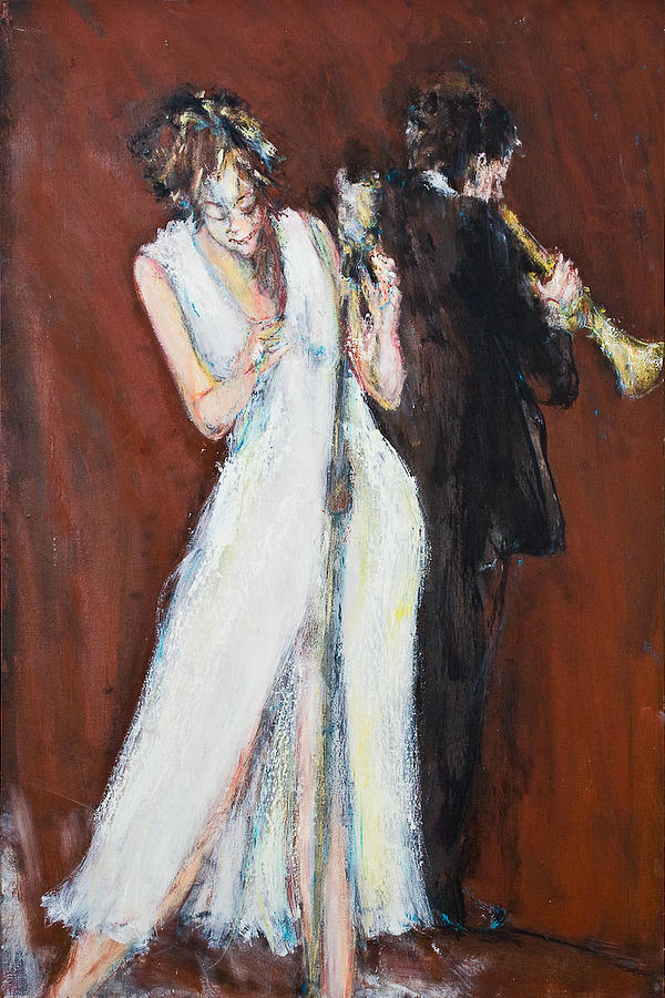 Jazz Painting - Lost In The Song by William  Glass