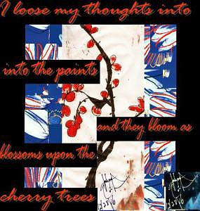 Cherry Trees Painting - Lost In Thought Remix by Johnna Crider