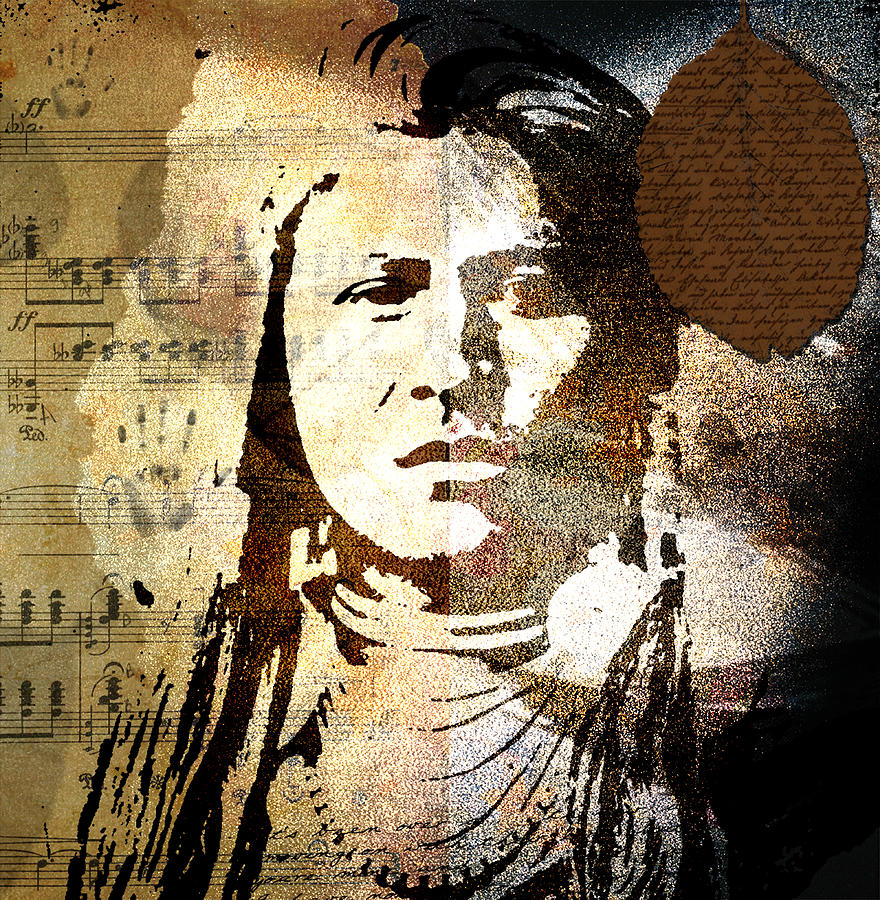 Beautiful Beauty  Black Broken Clock Color Colorful Dream  Eyes Face Figure Ghost Girl Hand Happy Head History Ill Lips Lost   Old Past Peace Portrait Reflection  Rusty Skin Tick   Digital Art - Lost In Time by Ramneek Narang