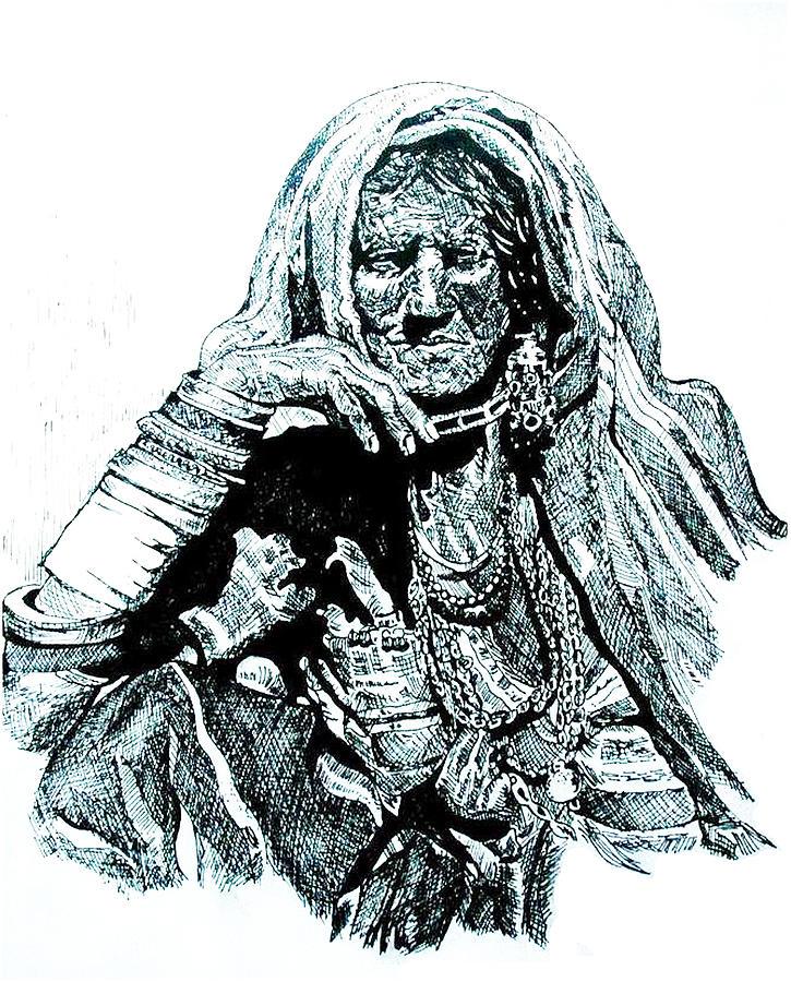 Old Drawing - Lost by Ramneek Narang