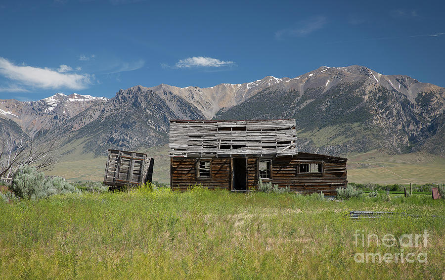 Idaho Photograph - Lost River Range Cabin by Idaho Scenic Images Linda Lantzy