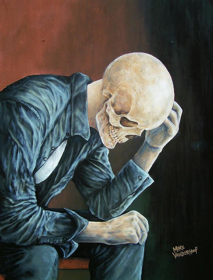Depression Painting - Lost Soul by Michael Vanderhoof