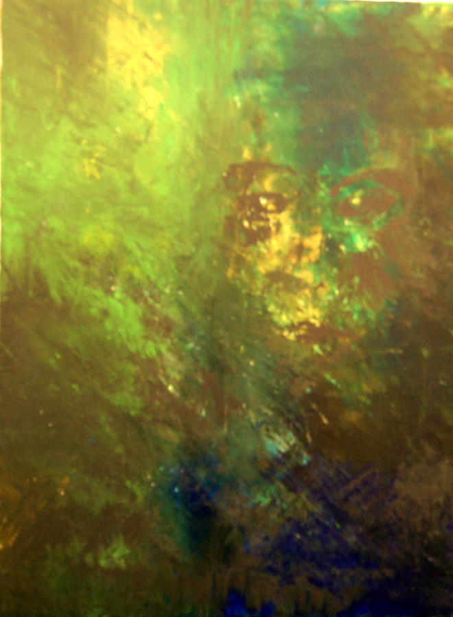Abstract Painting - Lost Soul Or In The Garden by DeLa Hayes Coward
