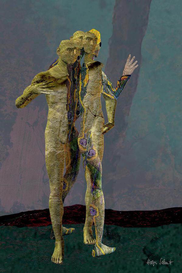 Mystery Digital Art - Lost Souls by Helga Schmitt