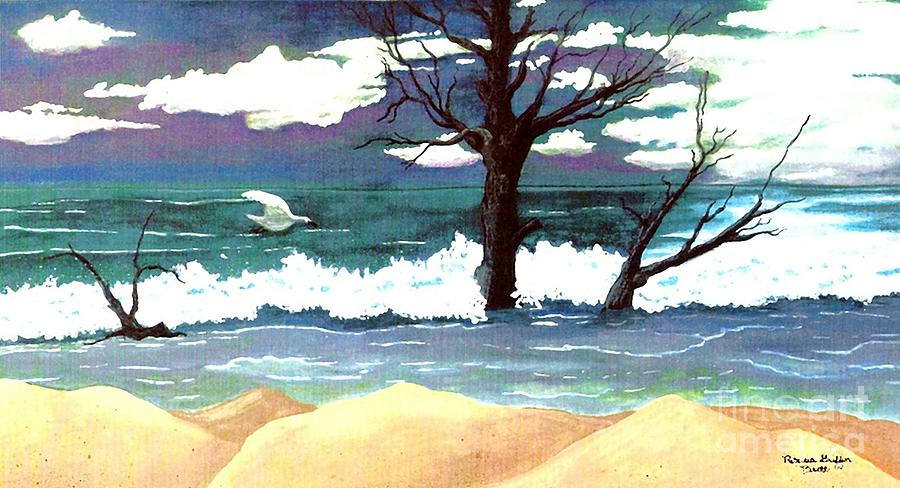 Sea Painting - Lost Swan by Patricia Griffin Brett