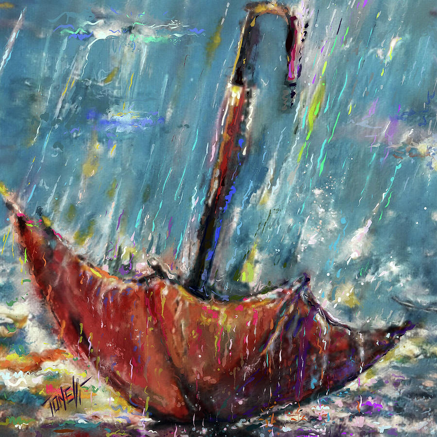 Lost Umbrella, Rain Painting