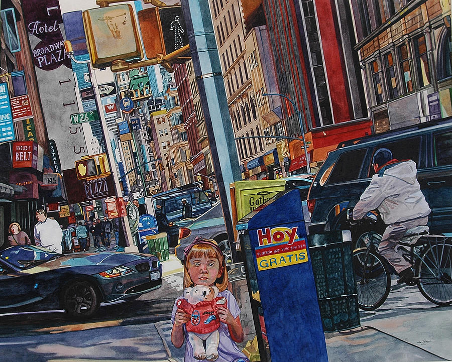 City Painting - Lost by Valerie Patterson