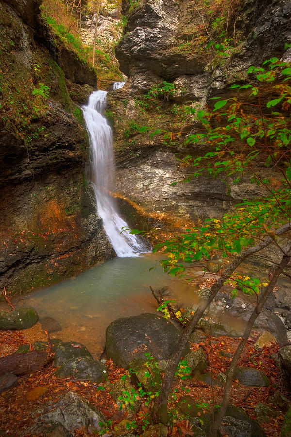 Landscape Photograph - Lost Valley Falls by Ryan Heffron