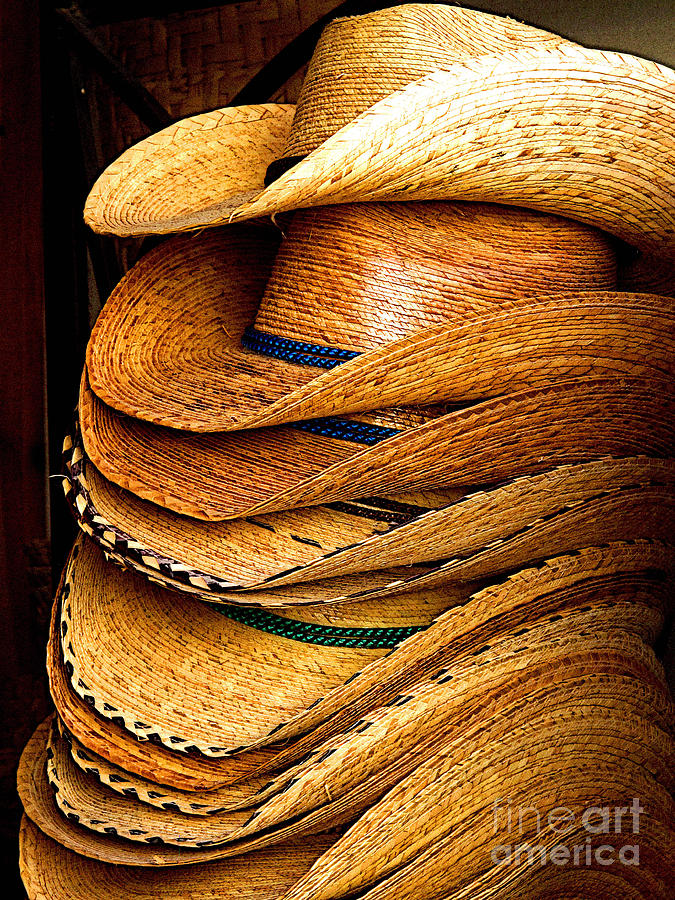 Tlaquepaque Photograph - Lots Of Hats by Mexicolors Art Photography
