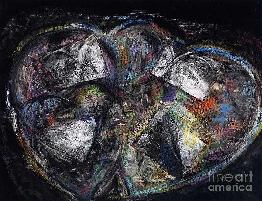 Abstract Heart Painting - Lots Of Heart by Frances Marino