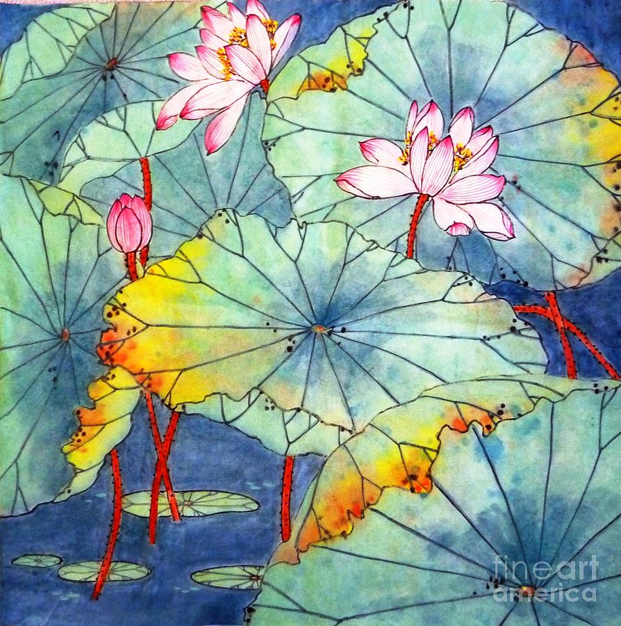 Florals Painting - Lotus #2 by Betty M M Wong