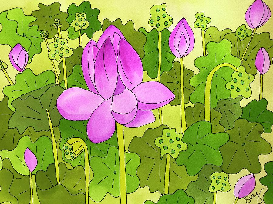 Lotus and Waterlilies by Suzy Mandel-Canter