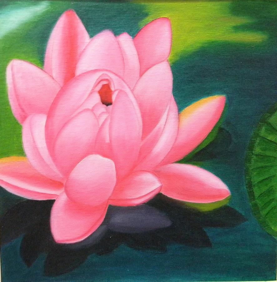 Flower Painting - Lotus Bloom by Pragya  Suman