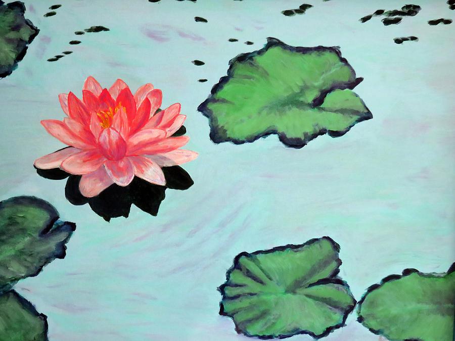Lotus Painting - Lotus Blossom by Vivian Stearns-Kohler