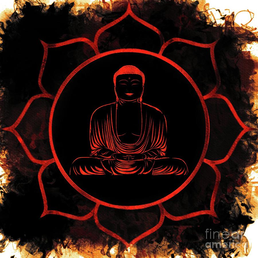 Lotus Painting - Lotus Buddha by Pierre Blanchard