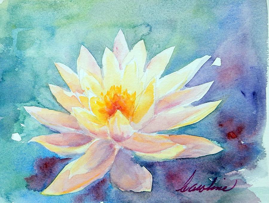 Flower Painting - Lotus Awakens by Caroline Patrick
