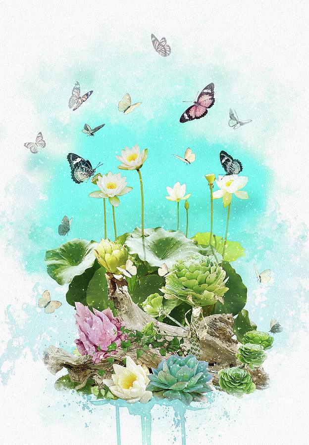 Lotus Digital Art - Lotus by Donika Nikova