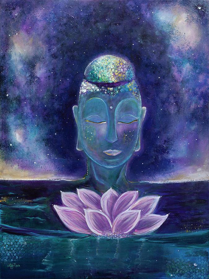Buddha Painting - Lotus Dream by Lily Nava