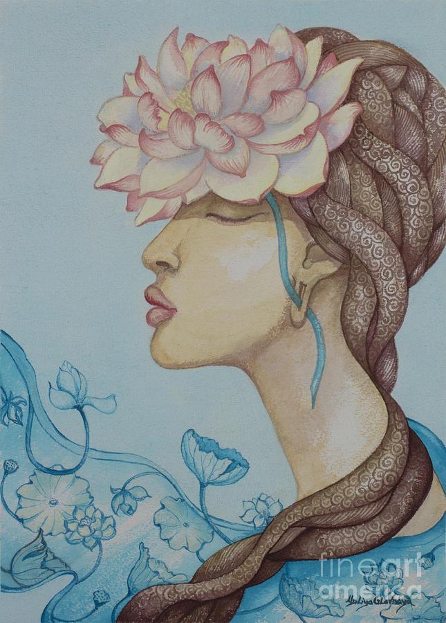 Lotus Painting - Lotus dream by Yuliya Glavnaya