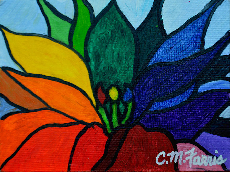 Lotus Flower 1 Painting by Christopher  M Farris