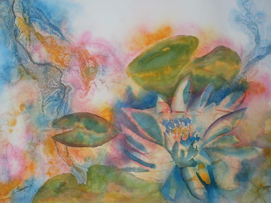 Lotus flower abstract painting by warren thompson lotus flower painting lotus flower abstract by warren thompson mightylinksfo