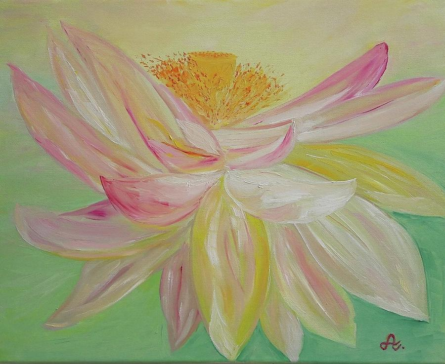 Lotus Flower The Way To Enlightenment Painting By Jana Athea