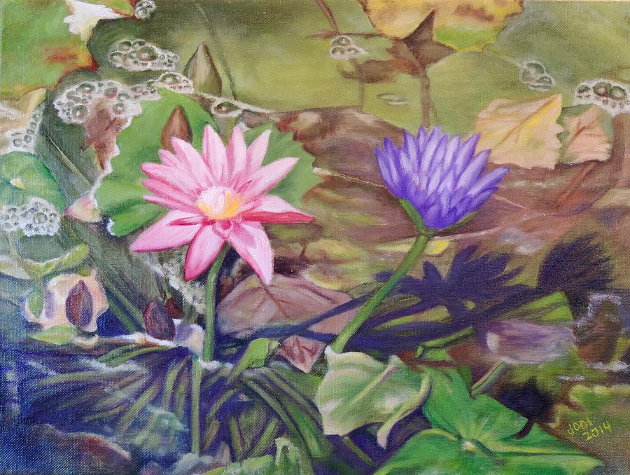 Lotus flowers of thailand painting by jodi higgins lotus painting lotus flowers of thailand by jodi higgins mightylinksfo