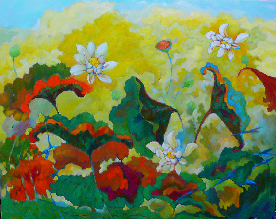 Lotus Painting - Lotus In The Fall by Tung Nguyen Hoang
