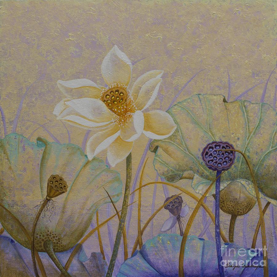 Lotus Painting - Lotus. Morning glory by Yuliya Glavnaya