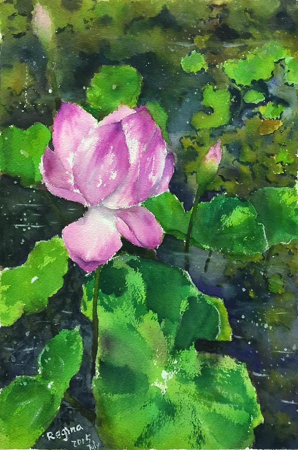 Flower Painting - Lotus by Regina Chen