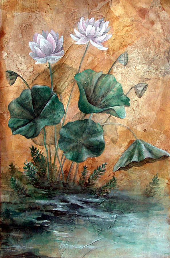 Lotus Painting - Lotus by Sandy Clift