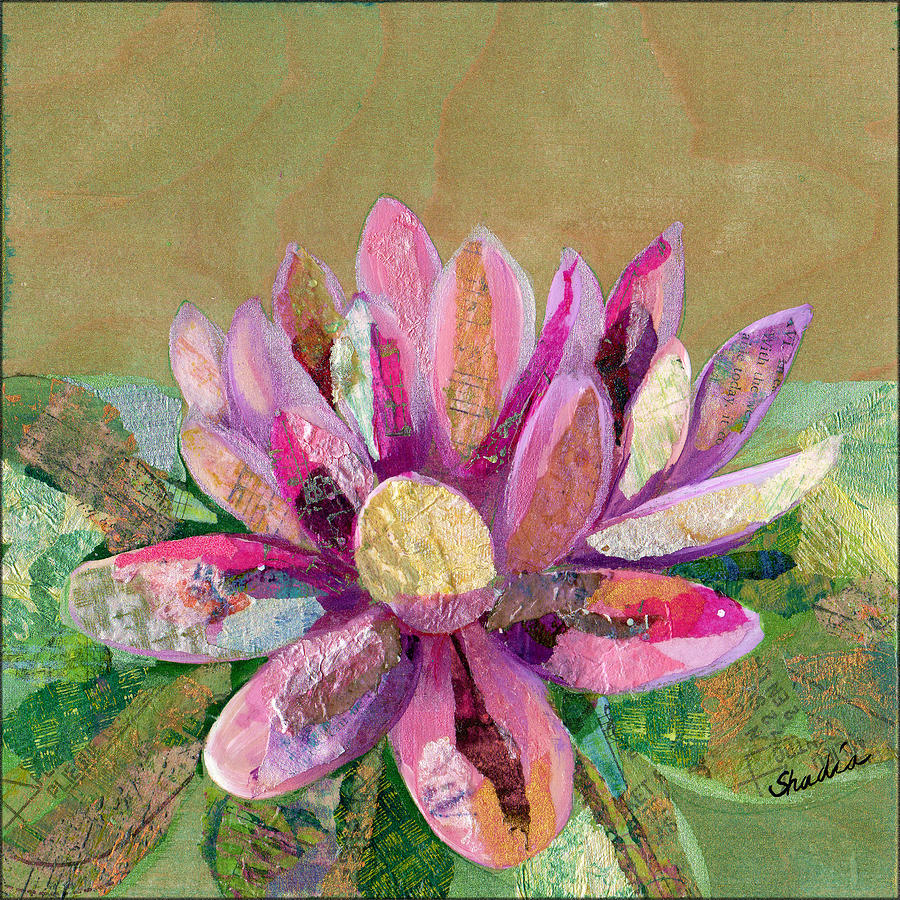 Lotus Painting - Lotus Series II - 2 by Shadia Derbyshire