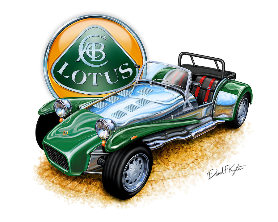 Lotus Super 7 Painting - Lotus Super 7  by David Kyte