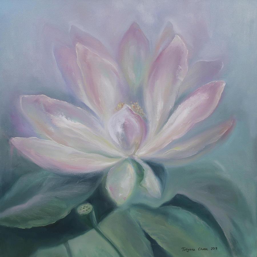 Lotus Flower Painting By Tatyana Chaar