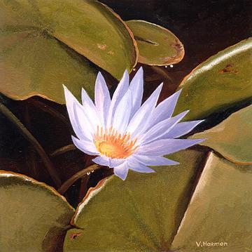 Landscape Painting - Lotus by Varvara Harmon