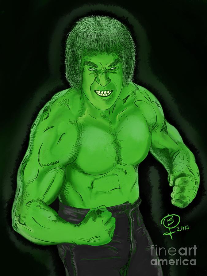 Lou Ferrigno Digital Art - Lou Ferrignos Hulk by Joseph Burke