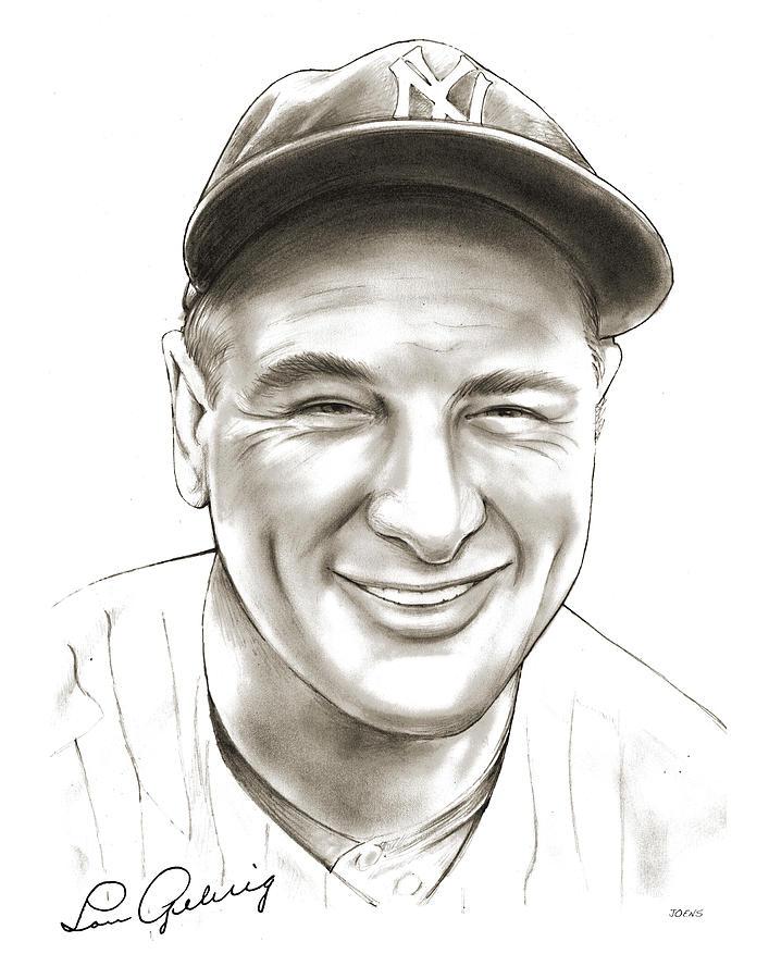 Lou Gehrig Drawing