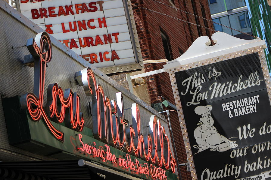 Lou Mitchell's Photograph - Lou Mitchells Restaurant And Bakery Chicago by Colleen Cornelius