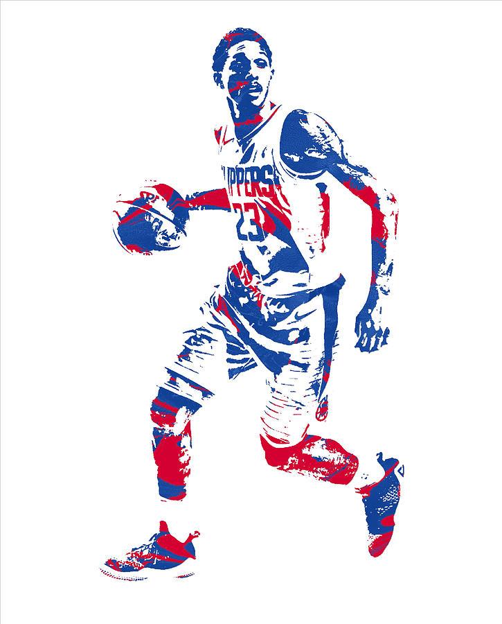 Clipper Mixed Media - Lou Williams Los Angeles Clippers Pixel Art 10 by Joe Hamilton