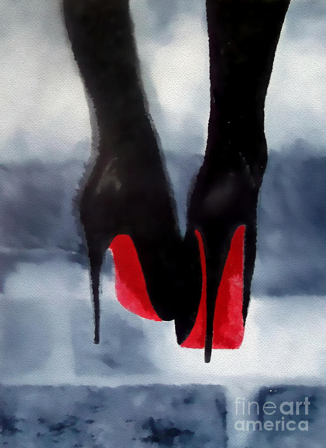 Fashion Mixed Media - Louboutin At Midnight by My Inspiration