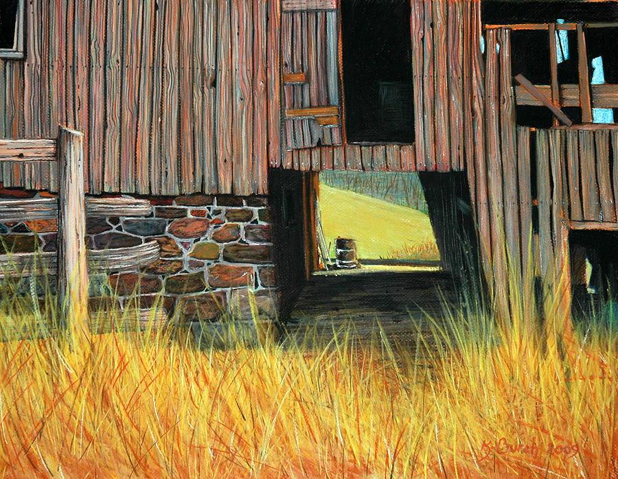 Pastels Pastel - Loudoun Barn by Kerry Burch