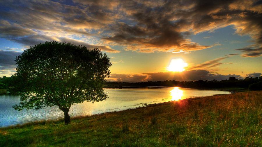 Lough Erne Photograph - Lough Erne Sunset by Kim Shatwell-Irishphotographer