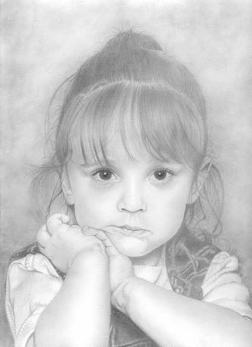 Girl Drawing - Louie by Greg Neil