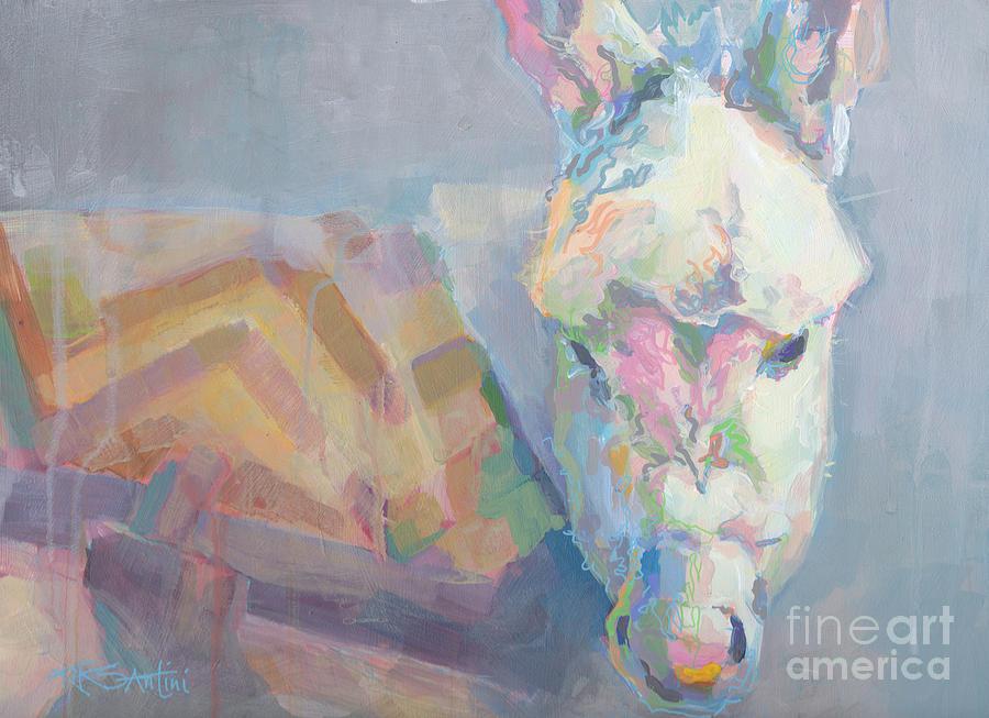 Donkey Painting - Louie by Kimberly Santini