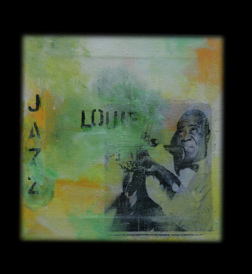 Louis Armstrong Mixed Media - Louie by Robin Lee