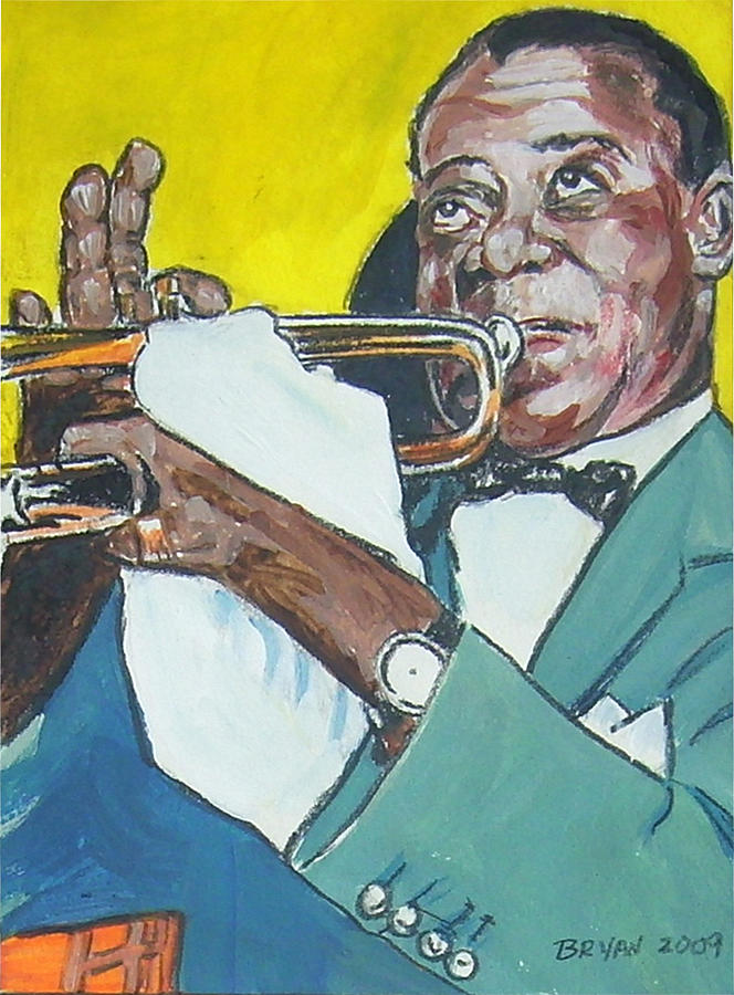 Louis Armstrong Painting - Louis Armstrong by Bryan Bustard