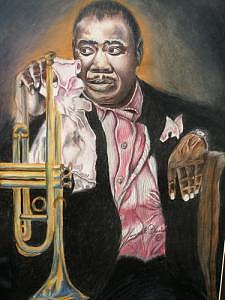 Louis Armstrong Drawing by Portland Art Creations