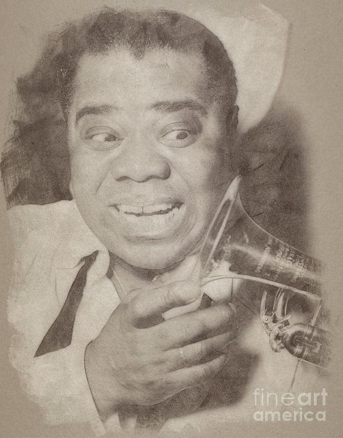 Louis Armstrong, Jazz Musician Drawing