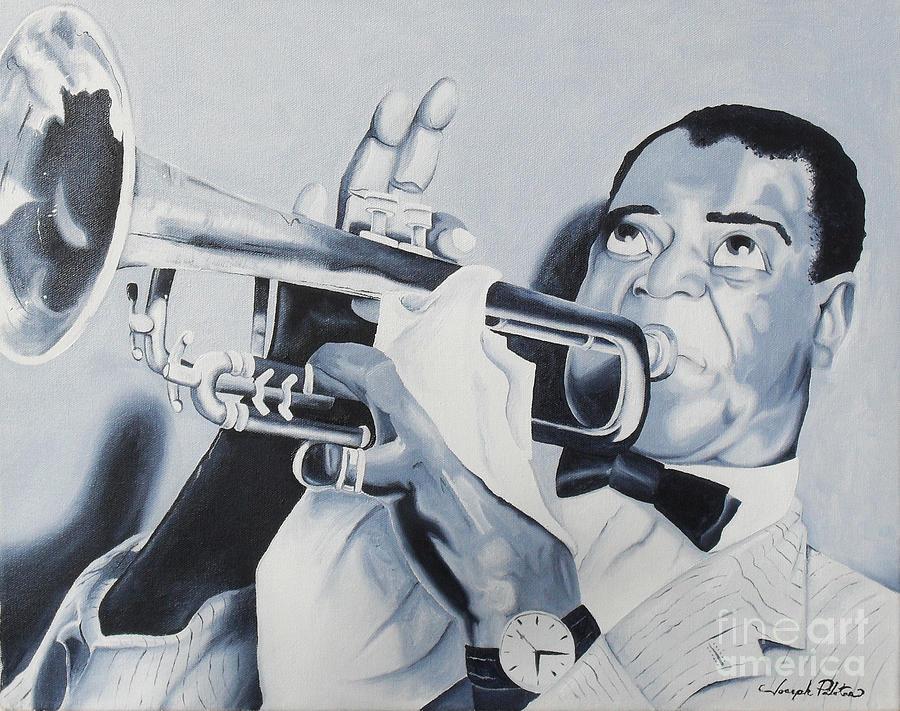 Idols Painting - Louis Armstrong by Joseph Palotas
